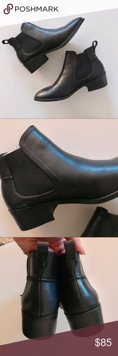 Steve Madden Dicey Leather Chelsea Boots (7.5) Brand new in box and never worn! Size 7.5 black leather Chelsea boots by Steve Madden. Nothing wrong with them, just wasn't able to return in time! Product details in the screenshot in the last picture! Steve Madden Shoes Ankle Boots & Booties