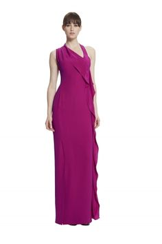 This halter maxi dress is a great day and evening