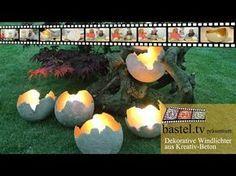 Beton giessen - Windlichter Kugeln aus Beton - YouTube