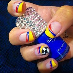 colombian colors nail design - Google Search