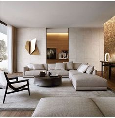 45 Modern Industrial Interior Design Living Room Décor Ideas - HOMYFEED In every age, furniture is made for the same basic purposes. Tables, desks and workbenches provide space for work or … Living Room Modern, Home Living Room, Living Room Decor, Living Area, Contemporary Living Room Designs, Contemporary Sofa, Cozy Living, Simple Living, Luxury Living Rooms