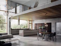 Cozinha lacada de folheado de madeira VELVET ÉLITE - GD Arredamenti