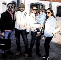 Taimur Ali Khan Chills With Parents Saif & Kareena Kapoor In Switzerland To Welcome The New Year - HungryBoo Taimur Ali Khan, Saif Ali Khan, Switzerland Vacation, Kareena Kapoor Khan, Chill, Dress Up, Mens Sunglasses, Cinema, In This Moment