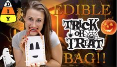 ove candy? This Halloween, why stop at just eating your trick or treat loot? Now you can eat the bag too! This super easy and fun tutorial will show you how to make an awesome edible trick or treat bag you can eat!