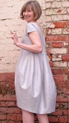 Купить Валяное платье Снежность - голубой, авторская ручная работа, Мокрое валяние, валяние из шерсти