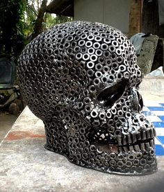 Nuts & Bolts Skull