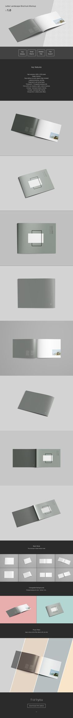 A Landscape Brochure Mockup In Photoshop Psd Format Available
