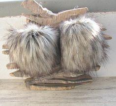 Silver Fox Faux Fur Pom Pom 2  Faux Fur Pompoms. Faux Fur. 4