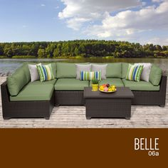 Belle 6 Piece Outdoor Wicker Patio Furniture Set 06a