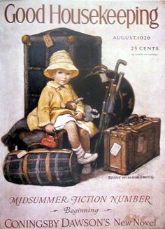 Good Housekeeping Jessie Willcox Smith cover (I'm packed and ready to go)