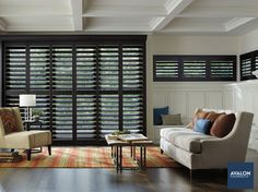 Hunter Douglas Heritance® Hardwood Shutters | Available at Avalon Flooring | #hunterdouglas #windowtreatments #windowshutters #windowcoverings #shutters