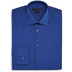 John Varvatos Star Usa Micro Check Slim Fit Dress Shirt ($74) ❤ liked on Polyvore featuring men's fashion, men's clothing, men's shirts, men's dress shirts, blue, mens floral print dress shirt, mens slim fit shirts, mens dress shirts, mens blue shirt and mens patterned shirts