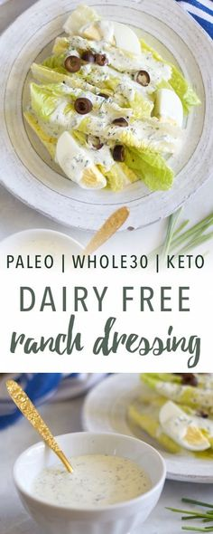 Dairy free ranch dressing || Empowered Sustenance