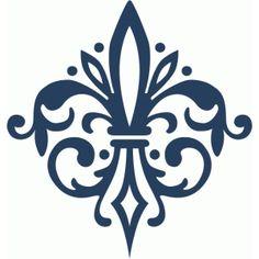 Silhouette Design Store - View Design #65503: fleur de lis damask