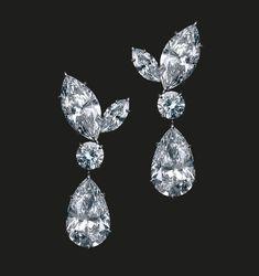 32.40 Carat D IF Diamond Earrings   Perfectly matching marquise and round diamond earrings.  Diamonds 32.40 cts  #houseoftabbah #tabbah