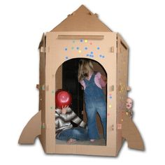 Diy Cardboard Rocket Playhouse Pattern