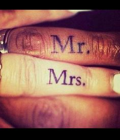 Mr and Mrs tattoo