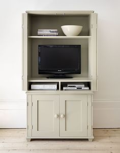 Buy the New England Television Armoire at the official online shop of the Ideal Home Show Exhibition. We've hand-picked the best New England Television Armoire for you to buy online. Entertainment Center Kitchen, Diy Entertainment Center, Diy Dvd Storage, Storage Ideas, Armoire Tv, Tv Decor, Furniture Decor, Diy Tv, Tv Stands