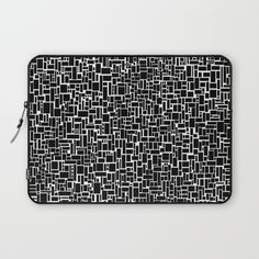 Back And White Abstact Laptop Sleeve