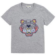 Kenzo Kids Tee-shirt en jersey coton Gris - 65545   Melijoe.com