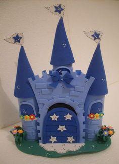 Castelo Azul ♥ Topo de Bolo