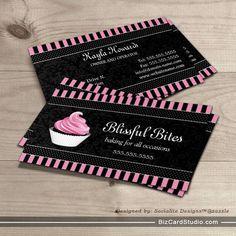 Original Illustration Cupcake Business Cards This Great Business - Cupcake business card template
