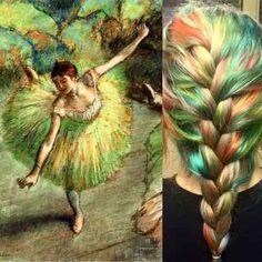 Baseado na obra Dançarina Inclinada, de Edgar Degas
