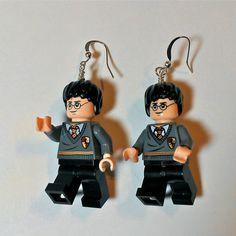 LEGO Harry Potter Earrings by ValGlaser on Etsy, $29.00