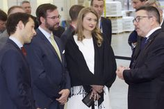 Princess Stephanie and Prince Guillaume visit Ampacet