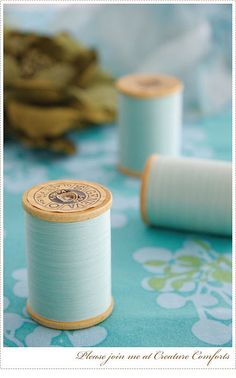 White cotton thread would be used to stitch the garment together.