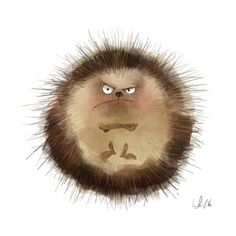 "Wiebke Rauers Illustration :- ♡☆ ""I Am a Grumpy Hedgehog! Art And Illustration, Illustration Mignonne, Hedgehog Illustration, Animal Drawings, Cute Drawings, Animals Watercolor, Watercolour, Art Fantaisiste, Cute Creatures"