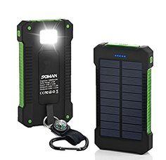 SOMAN Solar oplader 10000mAh regenbestädiges, stofvrije en stootvast duale USB poorten Solar power bank externe accu Backup batterij voor iPhone, iPad, iPod, mobiele telefoon, tablet, camera, etc
