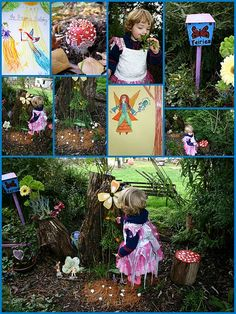 Saw a life-sized fairy garden this summer in a kid's zone, and thought how fun it would be to create one someday for the kids to have!