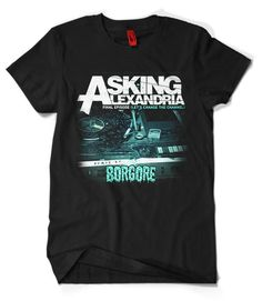 ALLOVER PRINT MULTI COLOR ASKING ALEXANDRIA GRAPHIC T-SHIRT All SIZES!