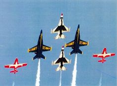 Thunderbirds, Snowbirds, Blue Angels