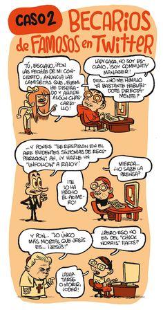 #Infografia #Humor por Monteys Becarios de famosos en #Twitter