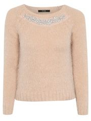 Eyelash Embellished Jumper