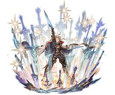 Seofon seems rather carefree for the leader of th. Game Character Design, Fantasy Character Design, Character Design References, Character Concept, Character Art, Concept Art, Granblue Fantasy Characters, Art Manga, Fantasy Warrior