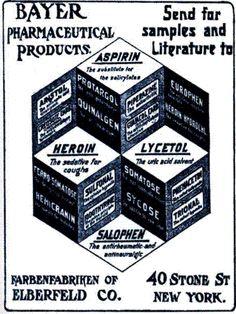 I pezzi pregiati della scuderia Bayer ad inizio novecento (notare anche l'Eroina)