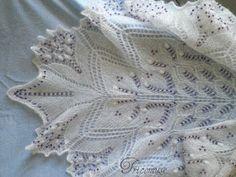 Tricot et compagnie: Châle Aeolian, mettre des perles avec un crochet