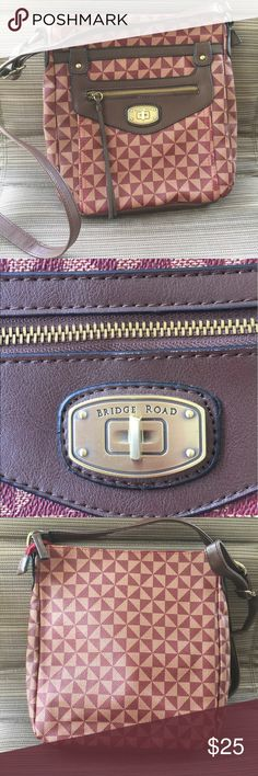 Bridge Road cross-body  like new ! Looks  new zipper works good refer to pics for the color and materials bundle and save more ! Bridge Road  Bags Crossbody Bags