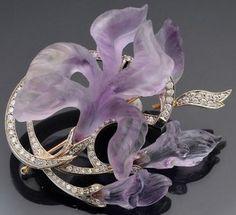 Lalique Glass irises