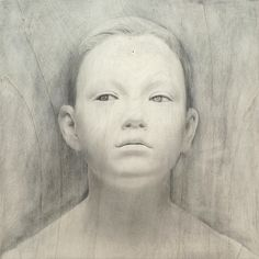 Young girl - Modern work by Bruno Walpoth who is an artist which makes incredible human sculptures from wood.