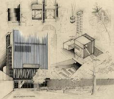 1000 images about archi sketch on pinterest for Rex architecture p c