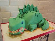 Dinosaur Eating Birthday Cake!