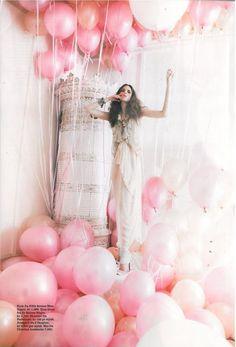 bubblegum pink balloons
