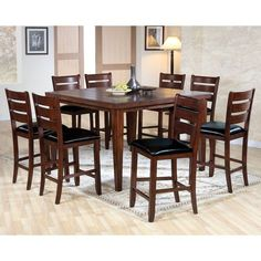 Acme Furniture Urbana 9 Piece Square Counter Height Dining Table Set    ACM1022 1