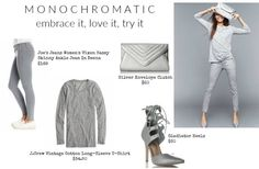 The monochromatic look can seem intimidating at first, but when it's done well, it can be such a go-to look for any occasion.  If you're scared to attempt this trend, try going monochromatic bottom down in any color other than black. Soft hues like greys, blush-tones, neutrals, always look best…