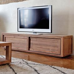 Teak Pure Tv Cabinet 57 Love This Simple Lines Good Quality And Unique