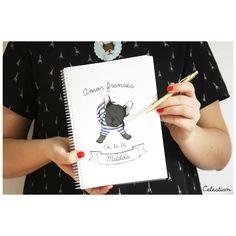 Papelería bonita y creativa en www.celestianshop.com #cuaderno #papeleriabonita #perro #bulldog #bulldogfrances #frenchie #pinterest